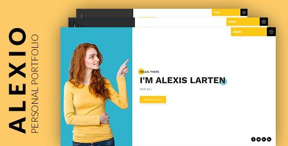 Alexio – Bootstrap 4 Personal Portfolio