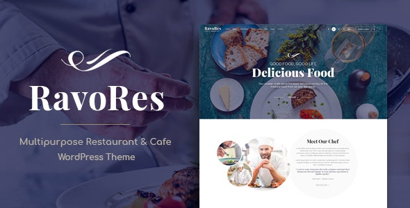 RavoRes - Multipurpose Restaurant & Cafe WordPress Theme - Restaurants & Cafes Entertainment