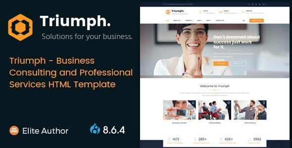 Triumph - Business Consulting and Professional Services Drupal 8.9 Theme - Business Corporate