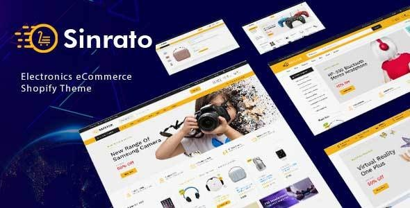 Sinrato - Electronics Mega Shop Shopify Theme - Shopping Shopify