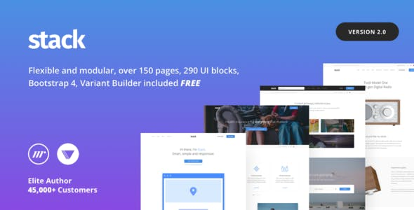 Stack Multi-Purpose HTML with Page Builder by medium_rare