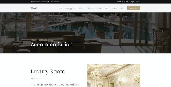 Tejal | Hotel Booking PSD Template