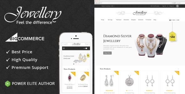 Jewellery - Multipurpose Stencil BigCommerce Theme - BigCommerce eCommerce