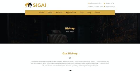 Sigai | Barber, Beauty and Hair Salon PSD