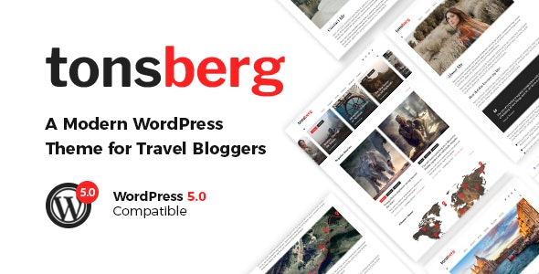 Tonsberg - A Modern WordPress Theme for Travel Bloggers - Personal Blog / Magazine