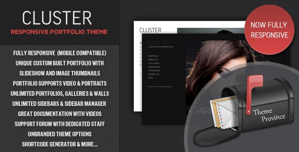 Cluster - A Responsive Portfolio WordPress Theme - Photography Creative