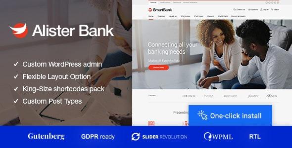 Alister Bank - Credits & Banking Finance WordPress Theme - Business Corporate