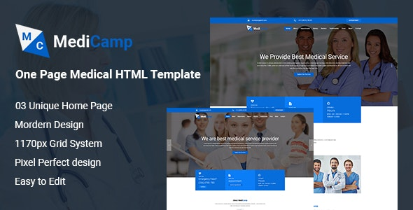 MediCamp - Hospital HTML Template - Business Corporate
