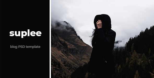 Suplee - Blog PSD Template - Personal Photoshop