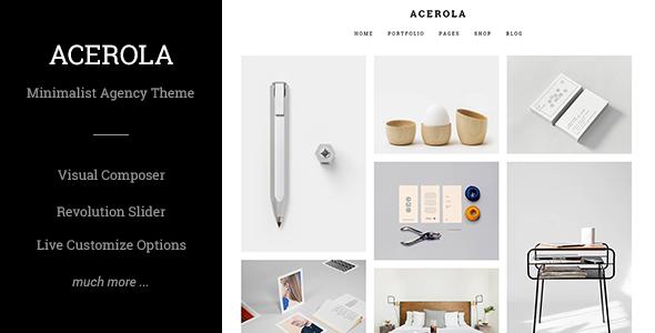 Acerola - Ultra Minimalist Agency Theme - Portfolio Creative