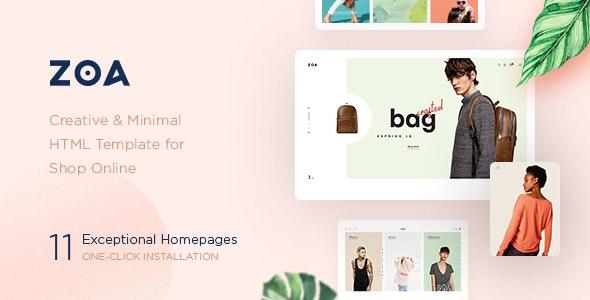 Zoa - Minimalist HTML Template - Retail Site Templates