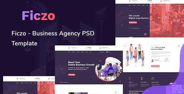Piczo - Business Agency PSD Template - Corporate Photoshop