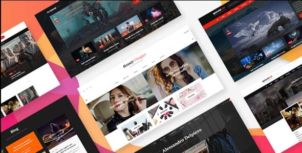 Vividly - Video Blog PSD Template - Film & TV Entertainment