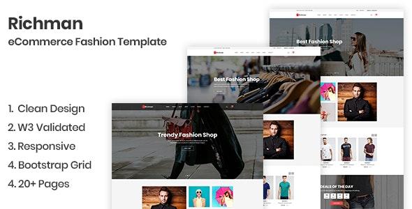 Richman - eCommerce Fashion Template - Fashion Retail