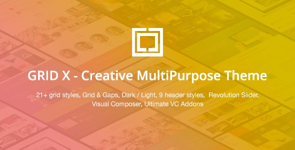 GRID X - Creative MultiPurpose Theme - Creative WordPress