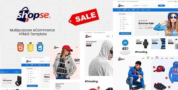 Shopse - Multipurpose eCommerce HTML5 Template - Site Templates