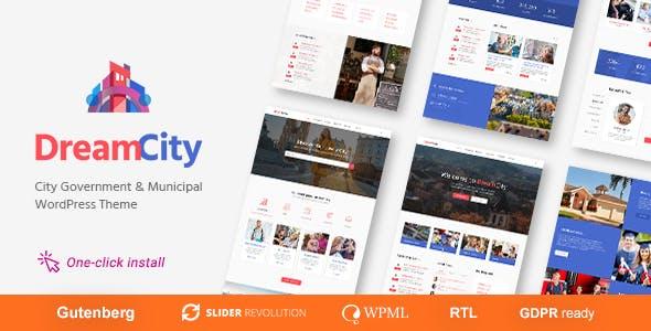 Dream City - City Portal & Government Municipal WordPress Theme