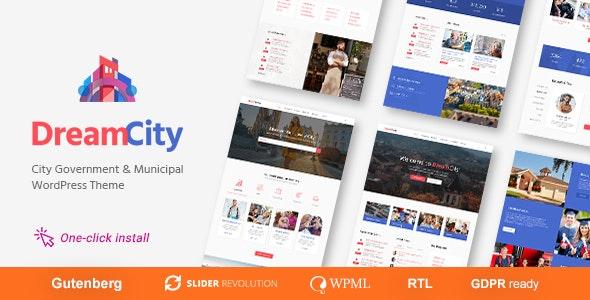 Dream City - Town Portal & Government Municipal WordPress Theme - Political Nonprofit