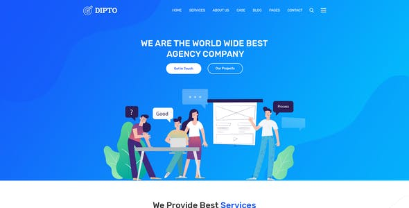 DIPTO - One Page Digital Agency html5 template