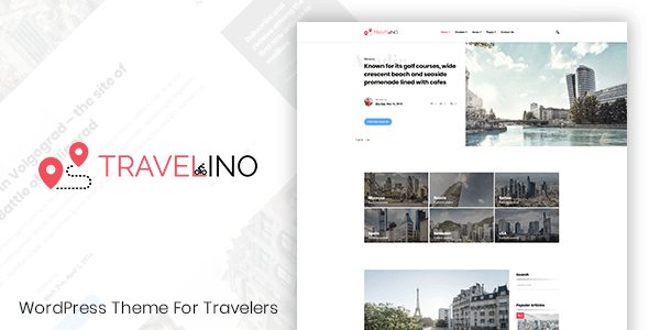 Travelino - WordPress Travel Theme - Personal Blog / Magazine