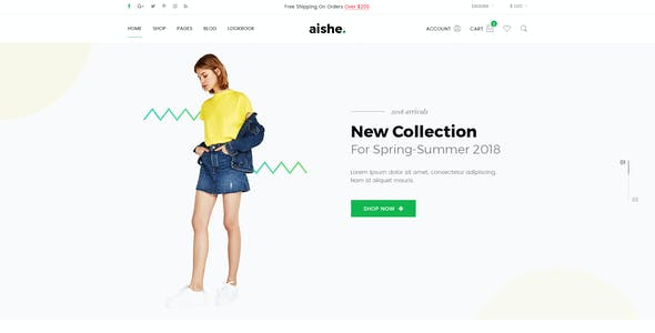 Aishe - Multipurpose WooCommerce WordPress Theme