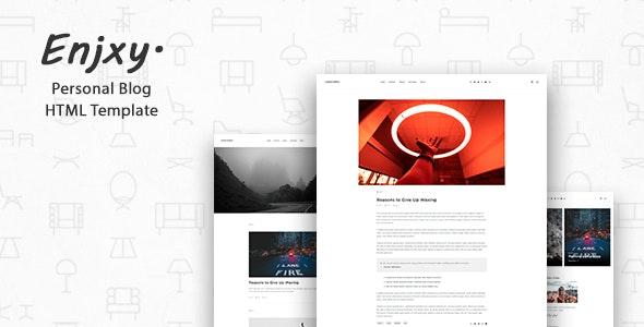 Enjxy. - Modern & Creative Blog Template - Personal Site Templates