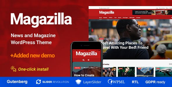 Magazilla - News & Magazine Theme