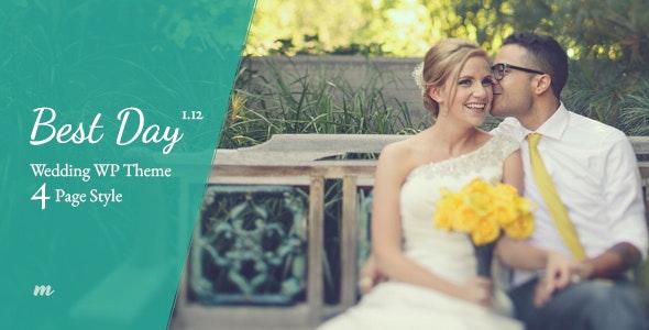Best Day - Wedding Theme - Wedding WordPress