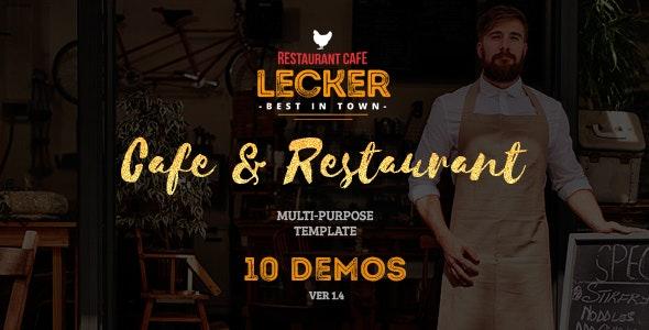 Lecker   Cafe & Restaurant Template - Restaurants & Cafes Entertainment