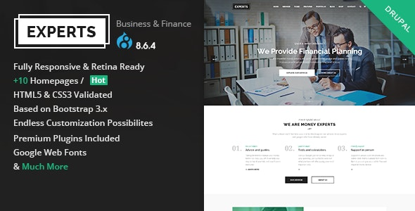 Experts Business - Multipurpose Corporate & Finance Drupal 8.8 Theme - Business Corporate