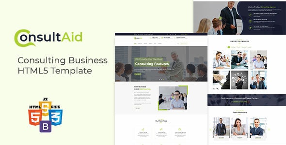 ConsultAid - Consulting Business HTML5 Template - Business Corporate