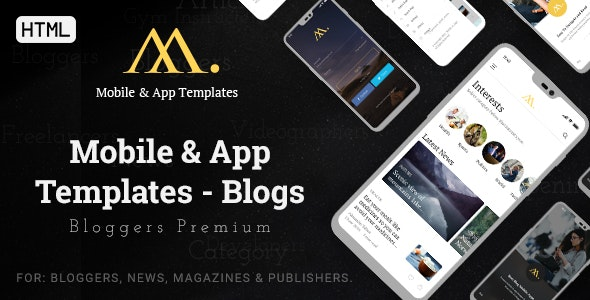 Mobile & App Templates - Blogs in HTML - Mobile Site Templates