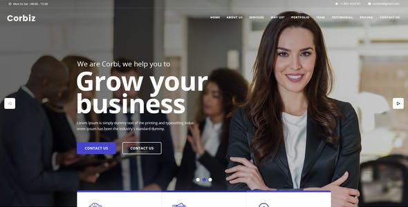 Corbiz - Multipurpose Business Consulting PSD Template