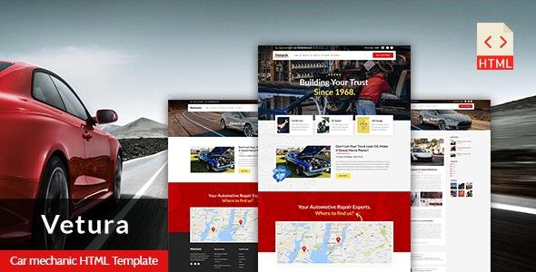 Vetura - Car Mechanic & Auto Repair HTML Template - Business Corporate