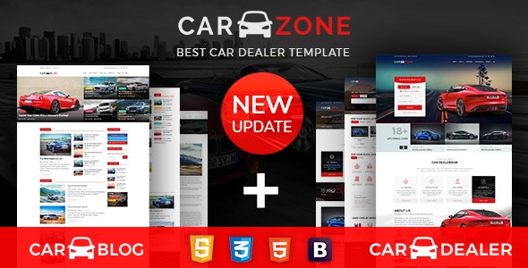 CarZone - A Complete Car Dealer HTML Wire-Frame by dexignlabs