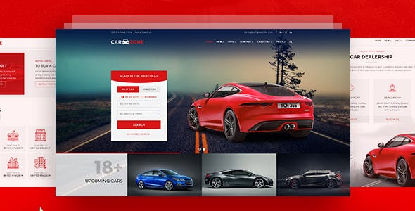 CarZone - A Complete Car Dealer HTML Wire-Frame