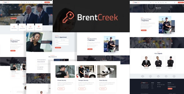 Brentcreek - Security Services HTML Template - Business Corporate