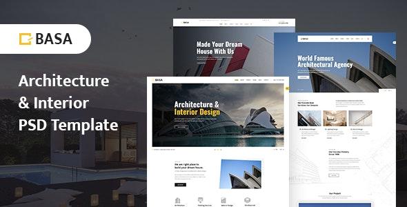 BASA - Architecture & Interior PSD Template - Portfolio Creative