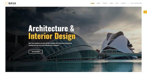 BASA - Architecture & Interior PSD Template