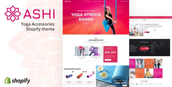 Ashi | Yoga Pilates, Fitness Shopify Theme - Health & Beauty Shopify