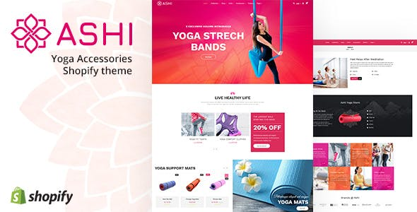 Ashi | Yoga Pilates, Fitness Shopify Theme
