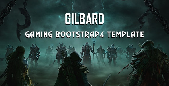 Gilbard - Gaming Bootstrap 4 Template - Software Technology