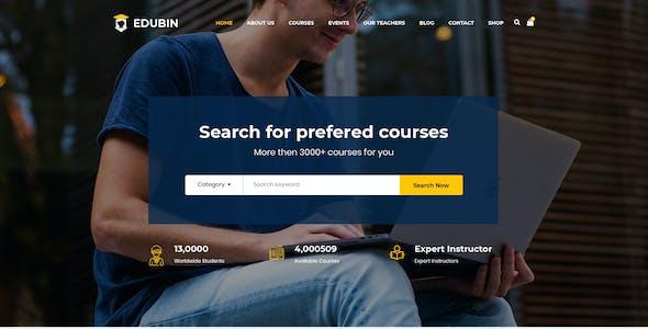Edubin - LMS Education PSD Template