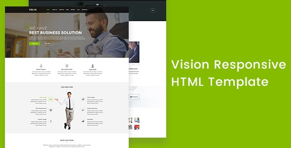 Vision Corporate Responsive HTML Template - Corporate Site Templates