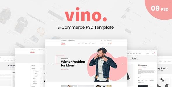 Vino – E-Commerce PSD Template - Fashion Retail