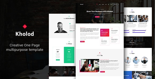Kholod - Creative One Page Multipurpose Template - Business Corporate