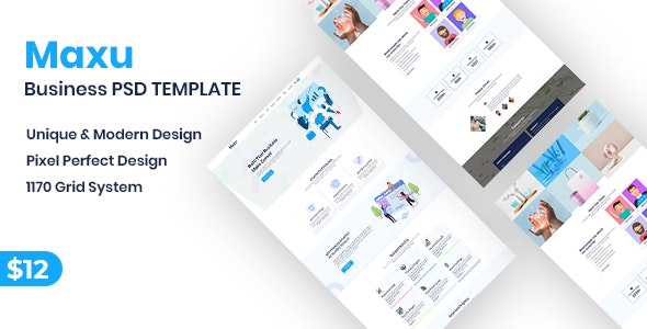 Maxu - Business PSD Template - Business Corporate