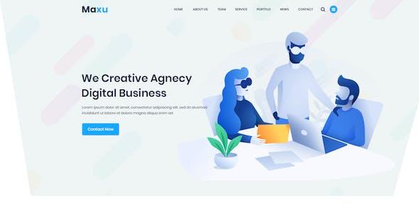 Maxu - Business PSD Template