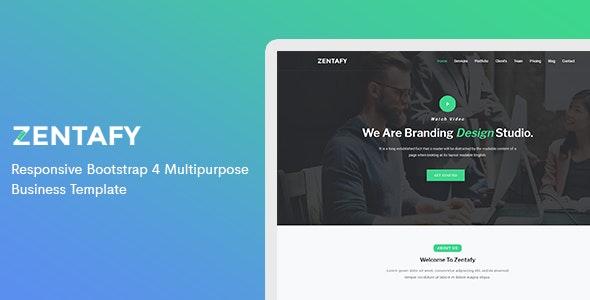 Zentafy - Responsive Bootstrap 4 Multipurpose Business Template - Corporate Site Templates