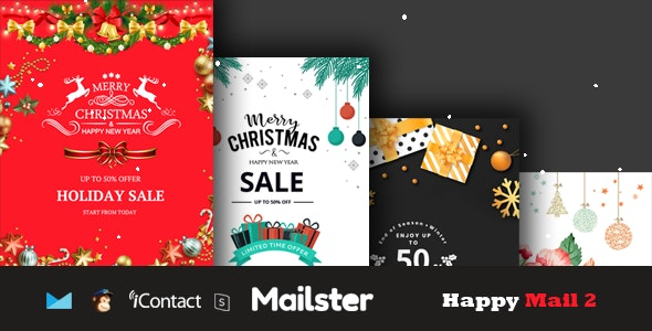 Happy Mail 2 - Christmas Email Templates Set + Online Access - Email Templates Marketing